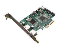 Controleur PCIE 2x USB3 et 2x SATA 3 6GB - BOOTABLE- PCIE 4x - PERICOM ETRON ASM