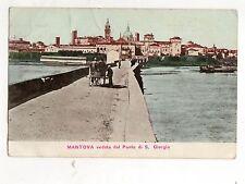 C003159  MANTOVA  VEDUTA  DAL PONTE  DI  SAN  GIORGIO  ANIMATA  CARRETTO VG 1902