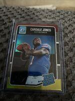 CARDALE JONES 2016 DONRUSS OPTIC RED AND YELLOW PRIZM RATED ROOKIE CARD #155