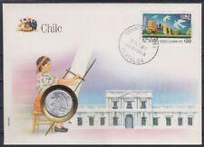 Chile 1 Centavo Numisbrief 1975 mit SST