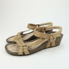 Teva Ventura Womens Leather Wedge Ankle Strap Sandals Shoes Size 7.5 M