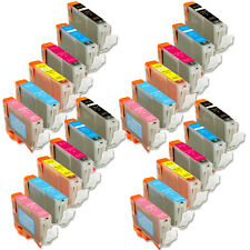 24 Pack Ink Combo with chip + PC PM use for Canon Pixma Photo iP6600D iP6700D