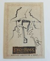 Gandalf LOTR Lord of the Rings Masterpieces 2 Topps Sketch Card 1/1