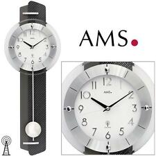 Ams 5264 Wall Clock with Pendulum Rc Carbon-Applikation Living Room
