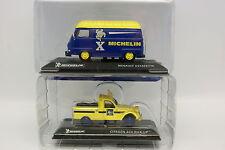Ixo Carrera 1/43 - Lote de 2 Michelin : Citroën y Renault Estafette