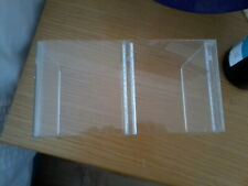 Acrylic/Perspex Thick Display Shelf with middle divider