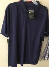 AUTHENTIC Nike Golf Dri-Fit Vertical Polo Shirt L, MSRP $55