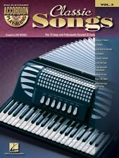 Classic Songs Sheet Music Accordion Play-Along Book and CD NEW 000701707