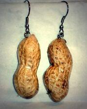 Ohrringe Erdnuss Essen Trinken Damen Ohrschmuck Modeschmuck Acryl Beige