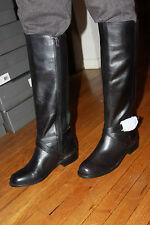 VINCE CAMUTO V0-KRANEY BLACK LEATHER BOOTS SIZE 6.M