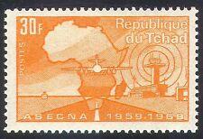 Chad 1969 ASECNA/Aviation/Planes/Aircraft/Transport/Radar/Map 1v (n40991)