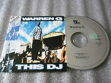 CD-WARREN G-THIS DJ-RECOGNIZE-REGULATE..G FUNK ERA-W.GRIFFIN(CD SINGLE)94-2TRACK