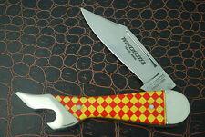 WINCHESTER TRADE MARK LONG PULL CHECKBOARD LADIES LEG KNIFE 1970's