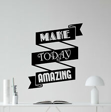 Quote Wall Decal Work Motivation Office Vinyl Sticker Poster Print Decor 27quo