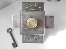 """Ancien Gros Verrou a clé """"EMR"""", Targette, Clenche, Serrure de Porte, Lock,Bolt"""
