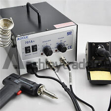 AOYUE 701A+ 2 In1 Hot Air Rework Station With Soldering Iron Repair Tool 220V