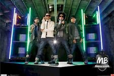 MINDLESS BEHAVIOR POSTER ~ NEON MB 22x34 Music Ray Princeton Prodigy Roc Royal