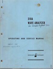 Original Hewlett Packard 310A Wave Analyzer Operating & Service Manual