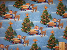 Rudolph the Red Nosed Reindeer and Hermey the Elf - Sold by the Half Yard