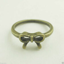Size 6.5  1PC Vintage Bronze Tone Alloy  Bow Cute Ring Jewelry Decor 37857