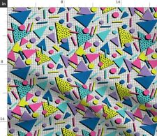 80S Memphis Retro Graphic New Wave Fabric Printed by Spoonflower BTY