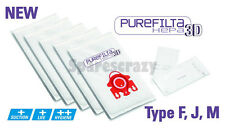 To fit Miele F, J, M FJM Red Collar Purefilta HEPA Vacuum 5 Bags & Filter Pack