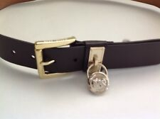New Michael Kors MK Brown and Gold Wide Belt XL Extra Large