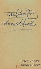 Norman Hunter & Terry Cooper Vintage SIGNED AUTOGRAPH Leeds Utd AFTAL UACC