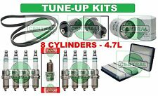TUNE UP KITS for 00-05 TOYOTA TUNDRA 4.7L: SPARK PLUG BELT AIR FUEL & OIL FILTER