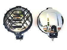 2x Rund Chrom Fernscheinwerfer H3 Halogen Zusatzscheinwerfer 183 mm 12V 24V E20