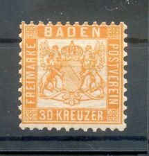 Baden 22a FARBE! * MH 180EUR (G3399
