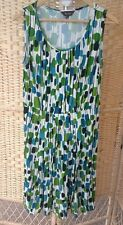Phase 8 Eight Size 14 Jersey Stretch Dress Sleeveless Green Cream Black Blue
