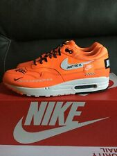 NIKE AIR MAX 1 LX JUST DO IT ( ORANGE ) SNEAKER SHOES SIZE 11 IN WOMEN 917691-80