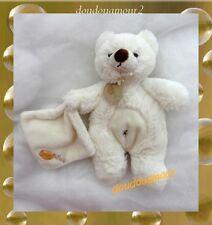 Doudou Peluche Ours Blanc Et Son Mouchoir Croix Nombril  Baby Nat'