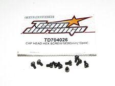 NEW Team Durango Cap Head Hex Screw 3x5mm (10) TD704026 1:8 4WD Nitro RC Buggy