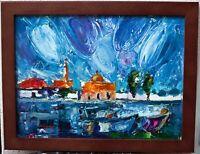 Original impressionistic oil painting 16x12, signed, framed