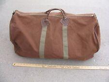Vintage 50s 60s #1 BIG LL BEAN ~27x15x14 HEAVY BROWN CANVAS DUFFLE bag luggage