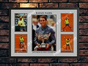 RAFAEL NADAL AUTOGRAPHED FRENCH OPEN CHAMPION LIMITED EDITION A4 PHOTO PRINT