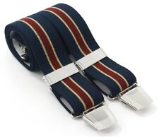 Men's 35mm Striped Braces 4 Leg Adjustable Stripe or Argyle Choice of Colours