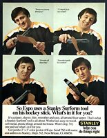 1974 Boston Bruins Phil Esposito 4 photo Stanley Surform Tool vintage print ad
