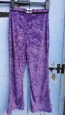 Vintage Girls Trousers  Adams age 9 Crushed Velvet Flares & belt Purple Perfect.