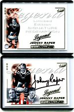 2002 NRL SELECT LEGEND SIGNATURE REDEMTION JOHNNY RAPER CARD  #2/110 IMMORTAL