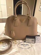 PRADA Borsa A Mano Saffiano Lux Bag, 1BA837, Color Cammeo