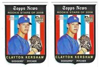2008 Topps Clayton Kershaw Heritage Rookie Cards 1 Black & 1 Green Back PSA 10 ?