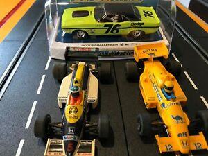 1/32 slot cars scalextric, turbo flash F1 carerra