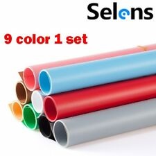 Selens 15.7X26INCH Photography Color Backdrop Paper Matte PVC Background 9 in 1