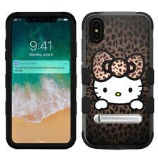 """for Apple iPhone Xs Max (6.5""""), Hard+Rubber Rugged Case Hello Kitty #H"""