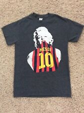 Rare Marilyn Monroe Messi T-Shirt Youth Small Gray Fc Barcelona Jersey Very Cool