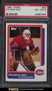 1986 Topps Hockey Patrick Roy ROOKIE RC #53 PSA 8 NM-MT