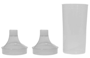 Drinking cup with 2 lids - pack of 4